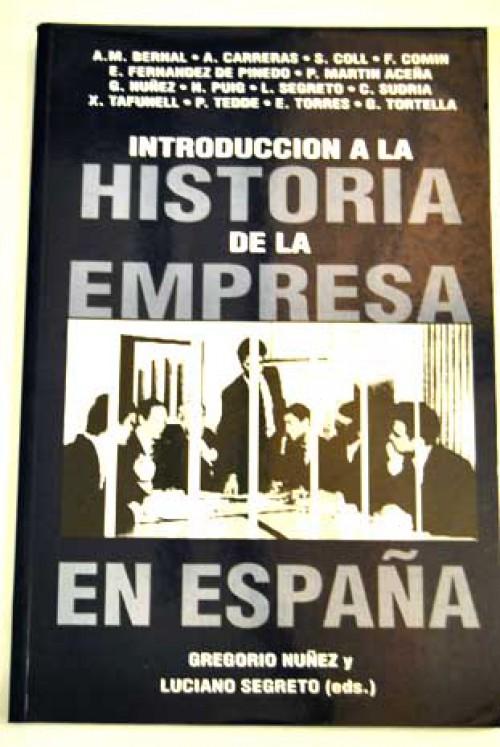 Introducción a la historia de la empresa en España