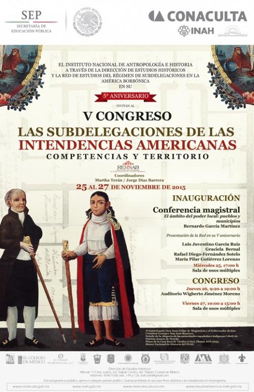 Congreso: Las subdelegaciones de las intendencias americanas. RERSAB