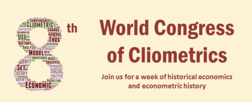 CFP: 8th World Congress of Cliometrics