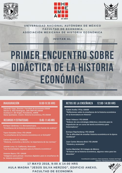 Primer Encuentro sobre didáctica de la Historia Económica (AMHE)