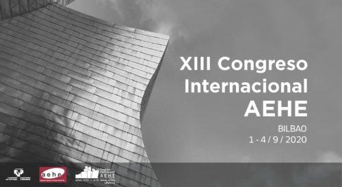 Ampliado el plazo de propuestas de sesiones XIII Congreso Internacional AEHE hasta el 15 de julio de 2019