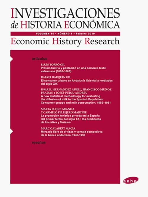 Proceso público de selección para cubrir el puesto de Editor/a de la Revista Investigaciones de Historia Económica