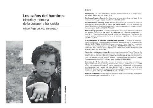 Nuevo libro coordinado por Miguel Ángel del Arco sobre hambre y posguerra