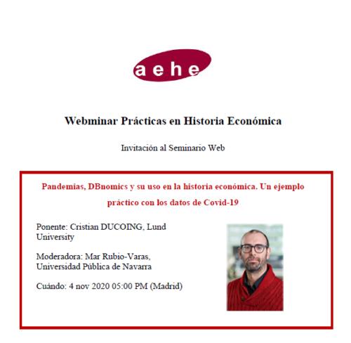 Webminar Prácticas en Historia Económica