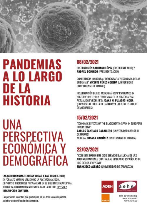 Ciclo de conferencias «Pandemias a lo largo de la Historia. Una perspectiva económica y demográfica»